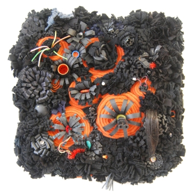 Black and orange is dangerous Petite Textile Exhibition Wangaratta Regional Gallery 2011.